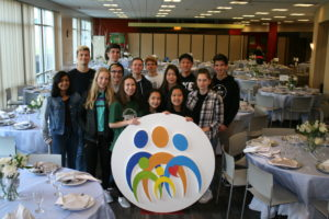 Oakridge High School students volunteer for The Center's Auction