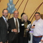 Matt Huckabay, Ray Pingle, Jana Pingle, Tony Grandos attend The Center for Violence-Free Relationships Winter Gala