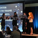 Oakridge High School Flute Quartet plays for The Center's Winter Gala