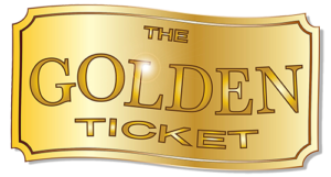 Picture of a golden ticket