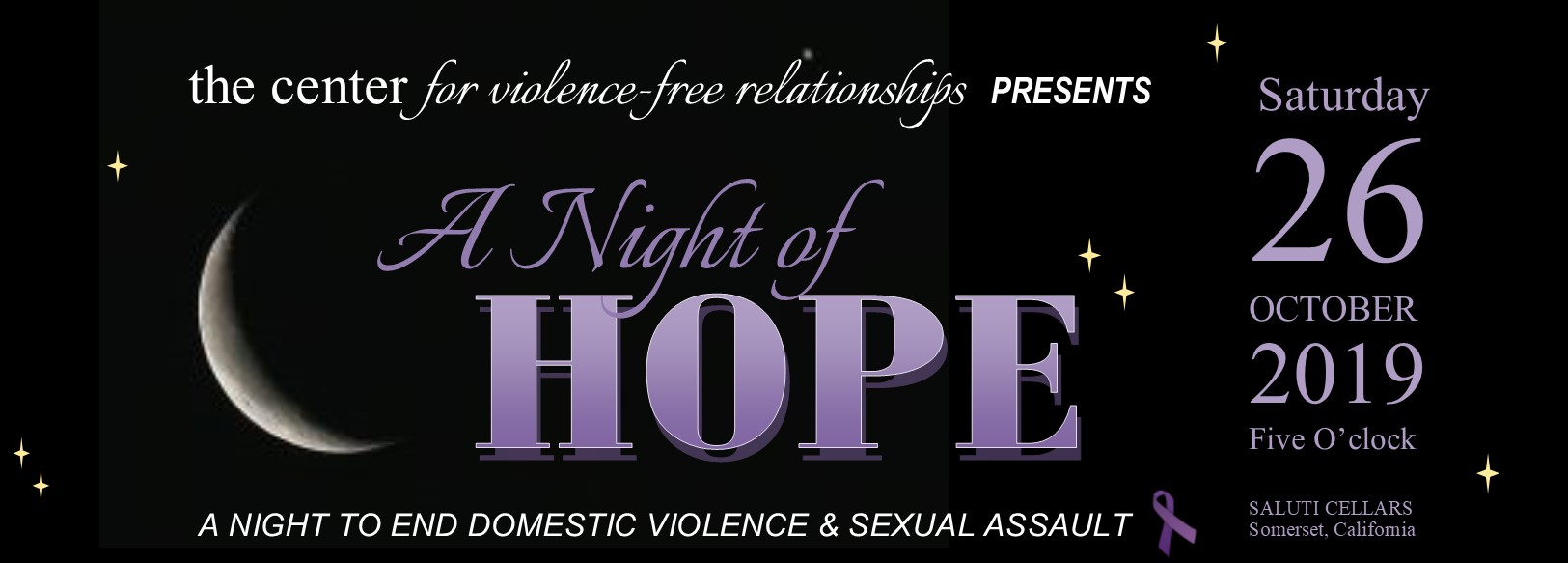 A Night of Hope - The Center for Violence-Free Relationships